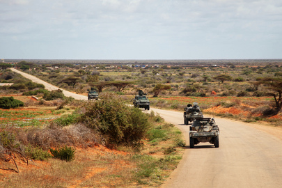 AMISOM Security Patrol around Kismayo, Somalia