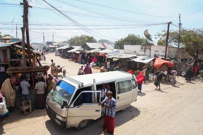 Street Scene in Kismayo, Somalia