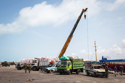 Scene at Kismayo Seaport, Somalia