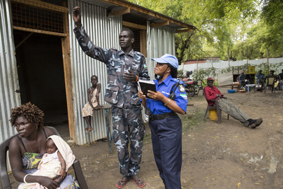 UNMISS Monitors and Advises South Sudan National Police