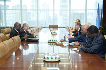 Secretary-General Meets AU Commissioner for Peace and Security