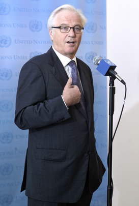 Permanent Representative of Russia Speaks to Press after Meeting with Syrian Opposition Leaders