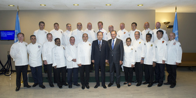 "Secretary-General Invites ""Club des Chefs des Chefs"" to Join Zero Hunger Challenge"