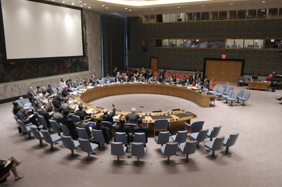 Wide view of the Security Council during its meeting on the situation in Cyprus. The Council voted to adopt resolution 2114 (2013) to extend the mandate of the UN Peacekeeping Force in Cyprus (UNFICYP) until 31 January 2014. 30 July 2013 United Nations, New York