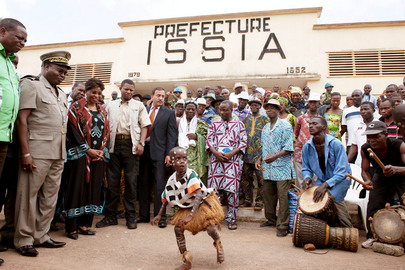 Head of UNOCI Visits Issia, Côte d'Ivoire