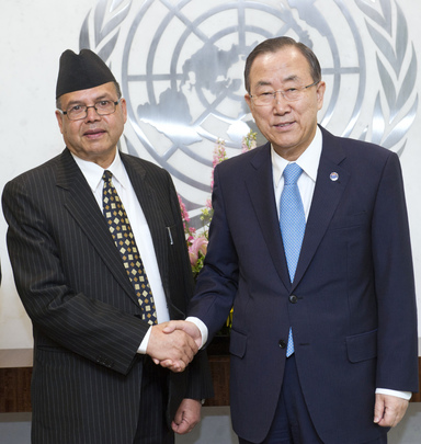 Secretary-General Meets Former Prime Minister of Nepal
