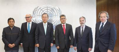 Secretary-General Meets with Foreign Ministers of MERCOSUR Countries