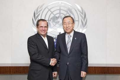 Secretary-General Meets with Minister of Foreign Affairs of Ecuador