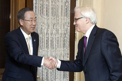 Secretary-General at Residence of Russian Permanent Representative