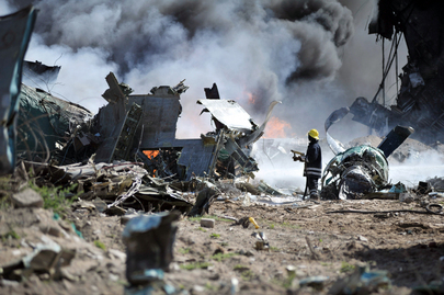 Military Plane Crash-lands at Mogadishu Airport
