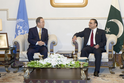 Secretary-General Meets President of Pakistan