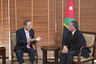 Secretary-General Meets King of Jordan