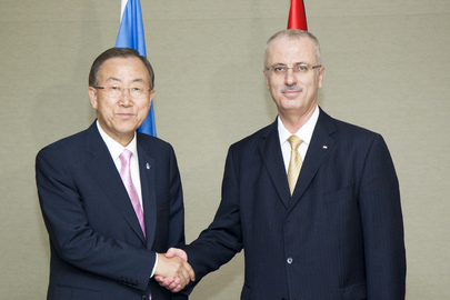 Secretary-General Meets Prime Minister of State of Palestine