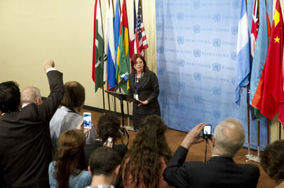 Security Council President Speaks to Press on Egypt