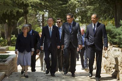 Secretary-General Meets Son of Late Israeli Prime Minister