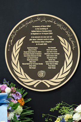 UNOG Marks World Humanitarian Day, Anniversary of Baghdad Attack