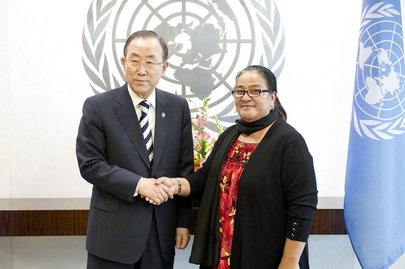 Secretary-General Meets New Permanent Representative of Kiribati