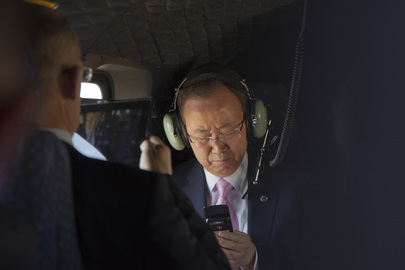 Secretary-General En Route to Meet King of Jordan
