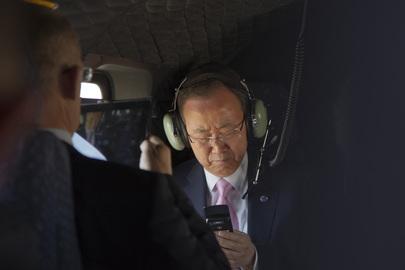 Secretary-General En Route to Meet King of Jordan