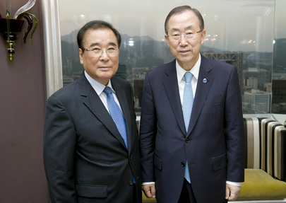 Secretary-General Meets Former Prime Minister of Republic of Korea