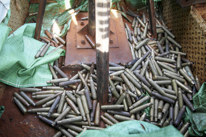 Empty Bullet Casings on Floor of AMISOM Position at Kismayo Airport, Somalia