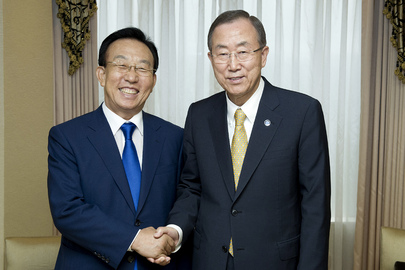 Secretary-General Meets Governor of Gyeongsangbuk-do Province in Seoul