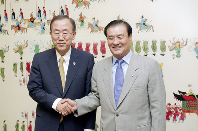 Secretary-General Meets Speaker of National Assembly of Republic of Korea