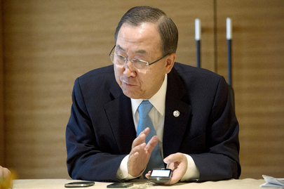Secretary-General in Conference Call with Senior UN Officials on Syria
