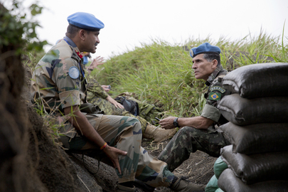 MONUSCO Force Intervention Brigade on Munigi Hill, Eastern DRC