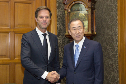 Secretary-General Meets Dutch Prime Minister