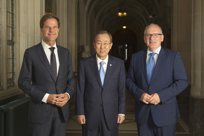 Secretary-General Meets Prime and Foreign Ministers of Netherlands