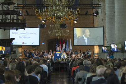 Secretary-General Delivers Leiden Freedom Lecture, Netherlands