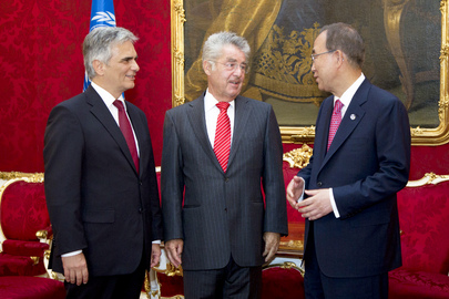Secretary-General Meets Austrian President and Chancellor