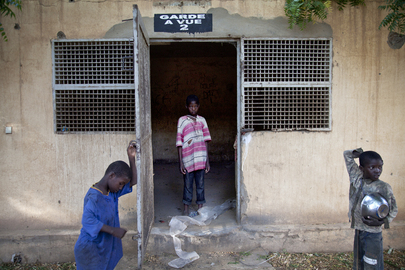 Children at Police Station Cell in Gao, Mali