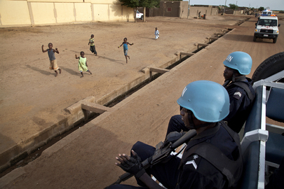 MINUSMA Police Officers Patrol Streets of Gao, Mali
