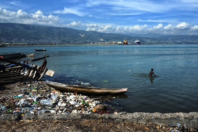Children Play in the Bay of Cité Soleil, Haiti