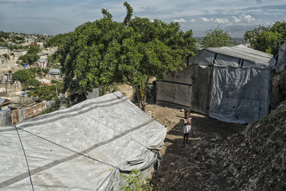 Child in Camp for IDPs in Port-au-Prince