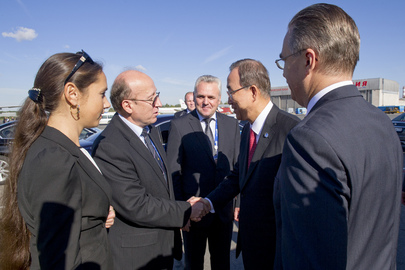 Secretary-General Arrives in St. Petersburg for G-20 Summit