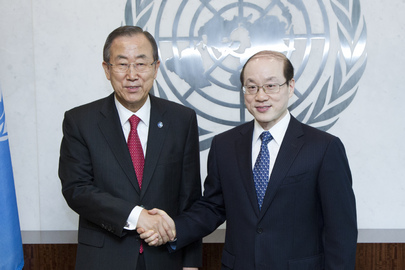 Secretary-General Meets New Permanent Representative of China