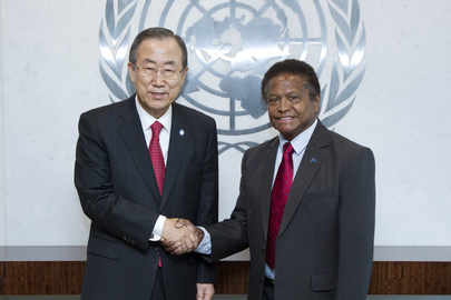 Secretary-General Meets New Permanent Representative of Palau.