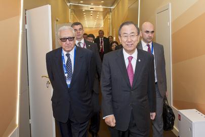 Secretary-General with Joint Special Representative for Syria in St. Petersburg