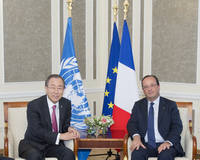 Secretary-General Discusses Syria Situation with President of France