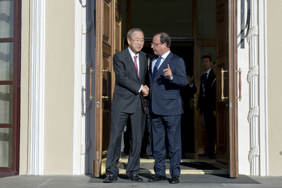 Secretary-General Meets President of France