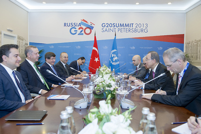 Secretary-General Meets Prime Minister of Turkey