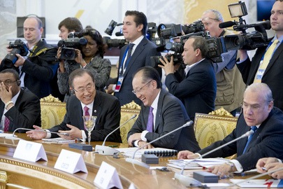 Secretary-General and World Bank President at G-20 Summit, St. Petersburg