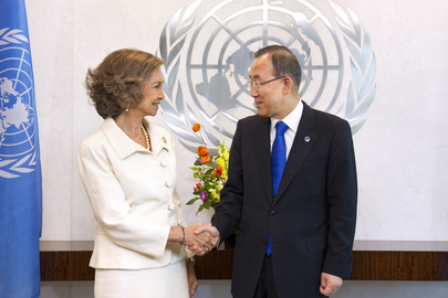 Secretary-General Meets Queen of Spain