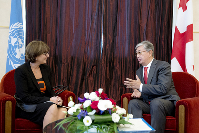 UNOG Director meets with Georgia's Minister of Foreign Affairs