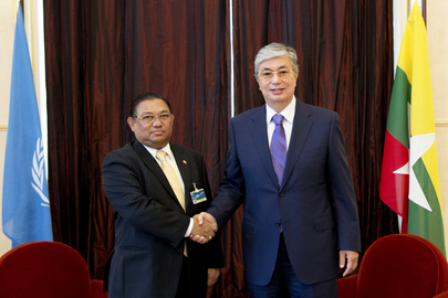 UNOG Director meets with Myanmar Minister of Foreign Affairs