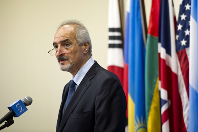 Permanent Representative of Syria Speaks to the Media