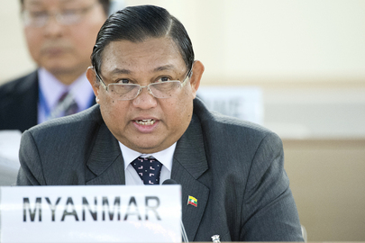 Myanmar Minister of Foreign Affairs at the Human Rights Council